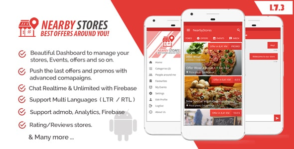 NearbyStores - Offers, Events & Chat Realtime + Firebase 1.7 - CodeCanyon Item for Sale