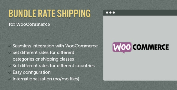 WooCommerce E-Commerce Bundle Rate Shipping - CodeCanyon Item for Sale