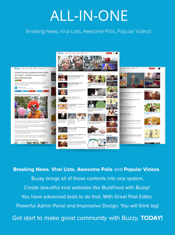 Buzzy 3.0.3 Nulled BuzzFeed Clone Php Script