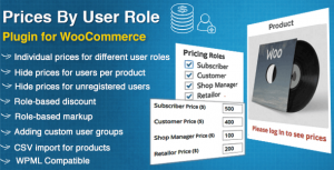 Prices By User Role for WooCommerce - CodeCanyon Item for Sale