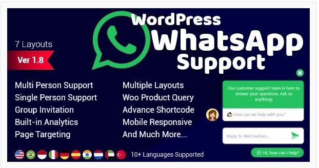 Download Wordpress Whatsapp Support Nulled