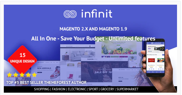 Infinit Nulled - Magento 2 Theme Free Download
