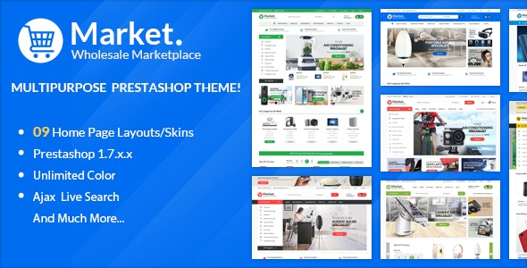 Themes Market  Responsive Prestashop 1.7 - Technology PrestaShop