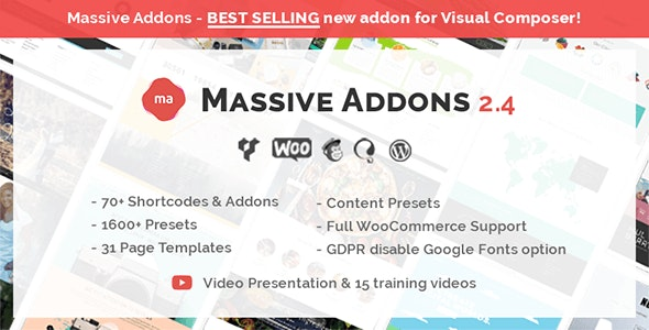 Massive Addons for WPBakery Page Builder - CodeCanyon Item for Sale