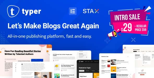 Typer - Amazing Blog and Multi Author Publishing Theme - News / Editorial Blog / Magazine
