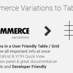 Woocommerce Variations to Table - Grid - CodeCanyon Item for Sale