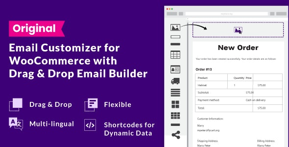 Email Customizer for WooCommerce with Drag and Drop Email Builder - CodeCanyon Item for Sale