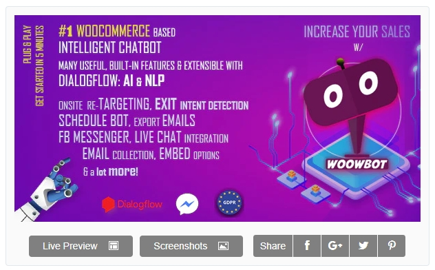 Woowbot Nulled - Chatbot for Woocommerce