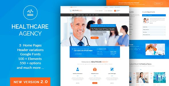 Health Care Nulled Medical WordPress Theme v.2.2 Free Download