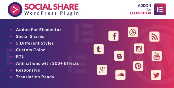 Social-Share-for-Elementor-nulled-demo