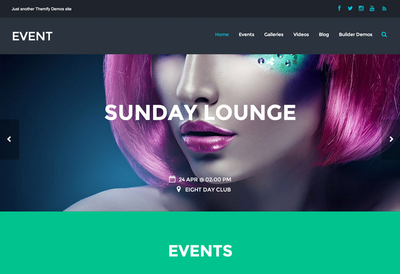 Themify-Event-nulled-demo