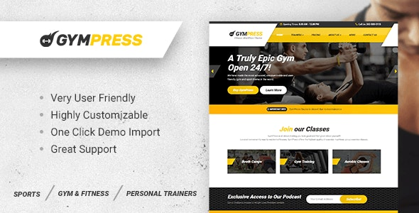 GymPress-nulled-demo