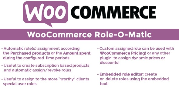 Woocommerce Role O Matic