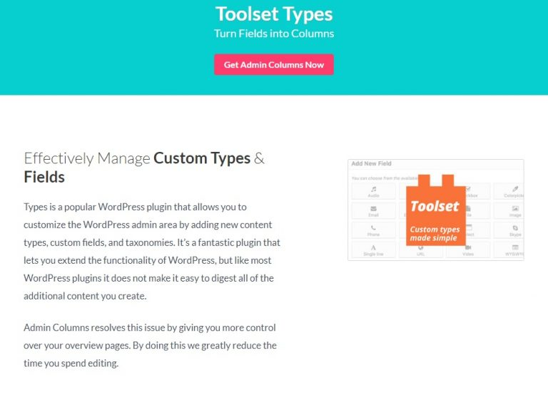 Admin-Columns-Pro-Toolset-Types-Addon-nulled-download