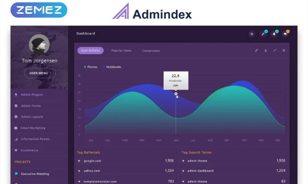 Admindex-Modern-Dashboard-Admin-Template-Nulled-Download
