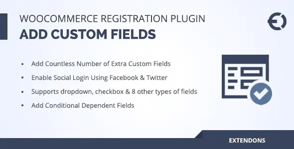 "The WooCommerce User Registration Extension lets you collect extra information from your customers by adding custom fields to your registration form. Add dropdowns, multi-select options, checkboxes, file uploads, dates, and more. Display the fields on ""My Account"" page, and make them either required or optional. You can also add a ""user roles"" dropdown menu to registration forms to let the customers select an appropriate role during registration — you can choose to display all or just specific user roles in the dropdown. Auto-approve new user registrations, or do it manually, which is particularly handy if you need to validate B2B customers before allowing them to log in and place orders. Tag fields with specific user roles and show them only when a customer selects a specific role from dropdown."