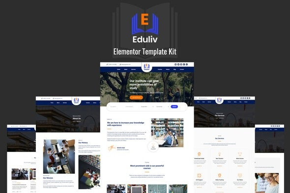 Eduliv-Nulled-Education-Elementor-Template-Kit