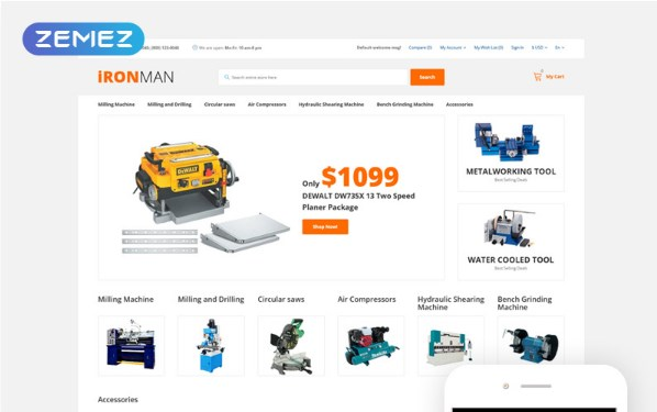 IronMan-OpenCart-Template-Nulled-Download