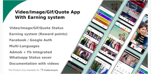 Video-Image-Gif-Quote-App-With-Earning-system-Nulled-Download