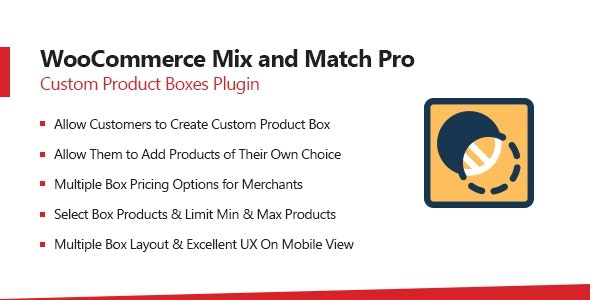 Feature List of WooCommerce Mix and Match Plugin Displays Offered Products in a List View Dynamic Pricing Option Set Fixed Box Price Per Product Price Fixed Price + Per Product Price Responsive & Mobile Ready Design Customers can Attach Personal Message Limit the Product Quantity for Each Bundle Compatible with Product Variations Set the Minimum No. of Products Required to Buy a Bundle Compatible with WooCommerce Product Options Plugin Compatible with WooCommerce Subscriptions Plugin