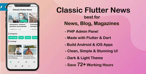 Classic-Flutter-News-App-Android-News-App-Nulled-Download
