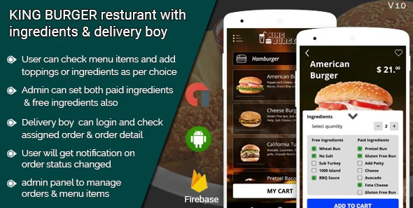 KING-BURGER-restaurant-with-Ingredients-Nulled-Download