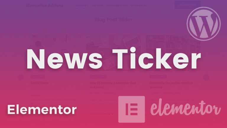 News-Ticker-For-Elementor-Download