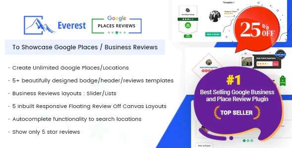 everest-google-places-reviews-WordPress-Plugin-To-Showcase-Google-Places-Nulled-Download