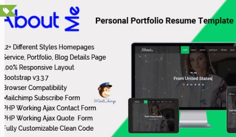 AboutMe-Personal-Portfolio-Resume-Template-Nulled-Download