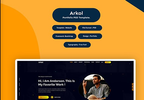 Arkol-Portfolio-PSD-Template-Nulled-Download