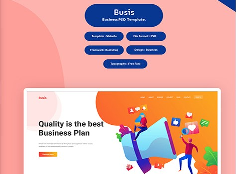 Busis-Business-PSD-Template-Nulled-Download