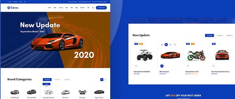 Cares-Car-PSD-Template-Nulled-Download