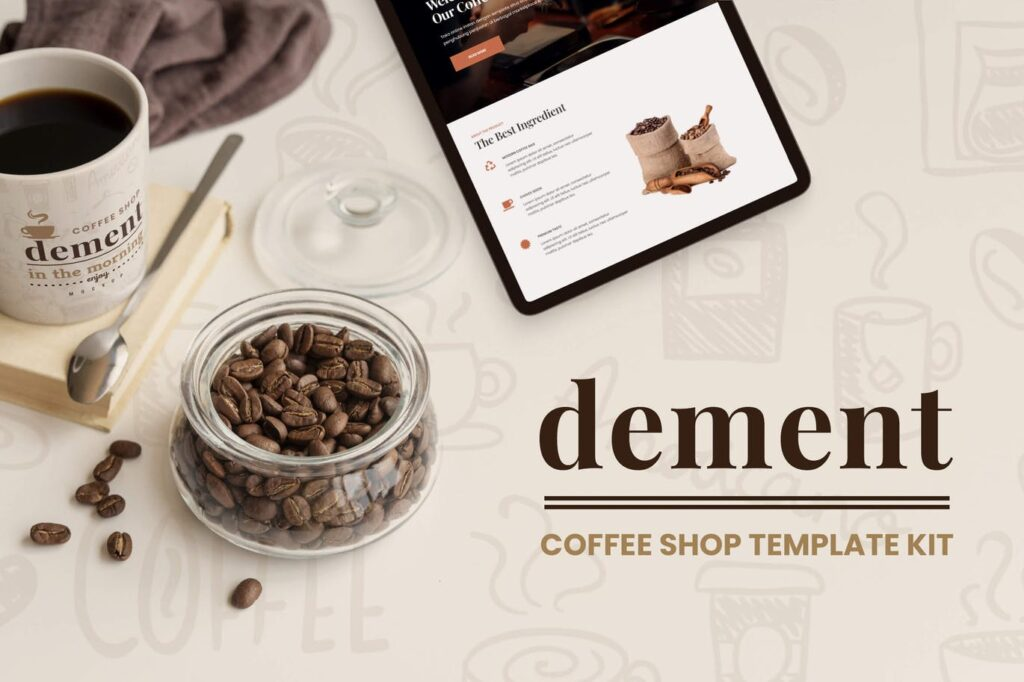 Dement-Coffee-Shop-Elementor-Template-Kit-Nulled-Download