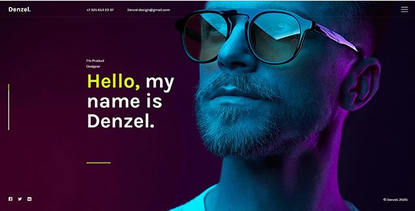 Denzel-Onepage-Personal-HTML-Template-Nulled