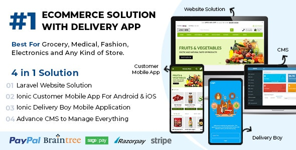 Ecommerce-Solution-with-Delivery-App-For-Grocery-Nulled-download