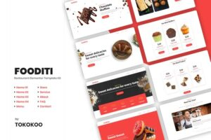 Fooditi-Restaurant-and-Cafe-Elementor-Template-Kit-Nulled-Download