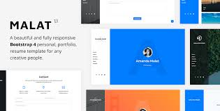 Malat-Responsive-Personal-Portfolio-Resume-Template-Nulled-Download