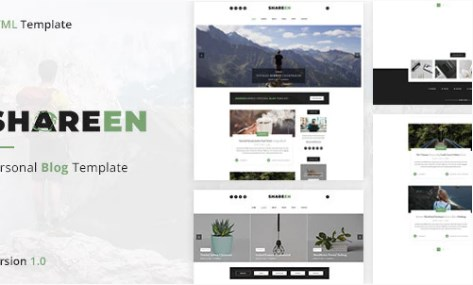 Shareen-Personal-Blog-Template-Nulled-Download