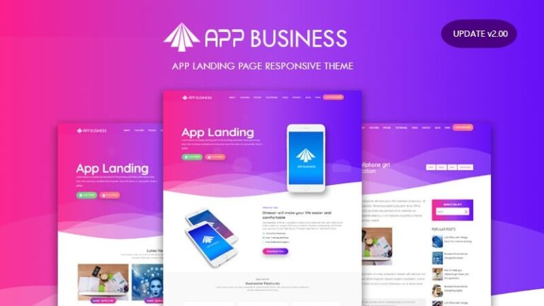 App-Business-Landing-Page-Responsive-Blogger-Template-Nulled-Download