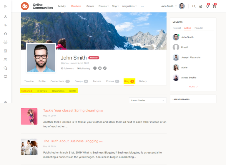 BuddyBoss-User-Blog-Blog-section-on-a-users-profile-Nulled-Download