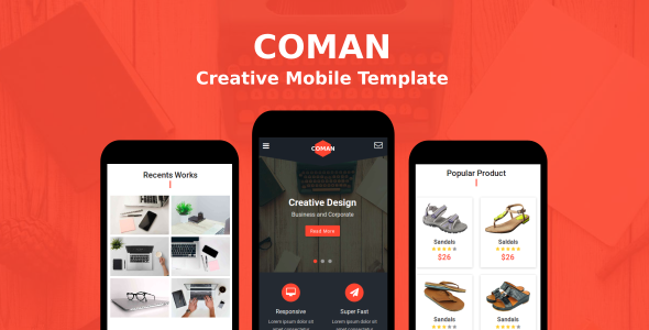 Coman-Creative-Mobile-Template-Nulled-Download