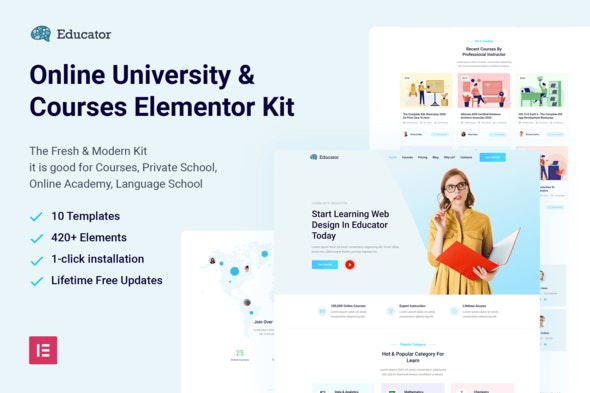 Educator-Online-University-Courses-Elementor-Template-Kit-Nulled-Download
