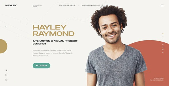 Hayley-Personal-CV-Resume-WordPress-Theme-Nulled-Download