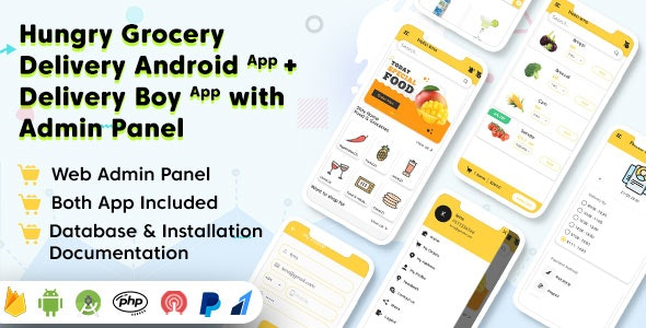 Hungry Grocery Delivery Android App Nulled Download