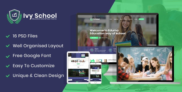 IvyPrep-Education-School-WordPress-Theme-Nulled-Download