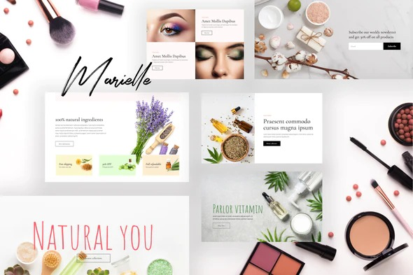 Marielle-Cosmetics-and-Beauty-Shop-Elementor-Template-Kits-Nulled-Download