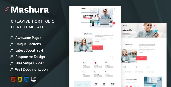 Mashura-Single-Portfolio-HTML-Template-Nulled-Download