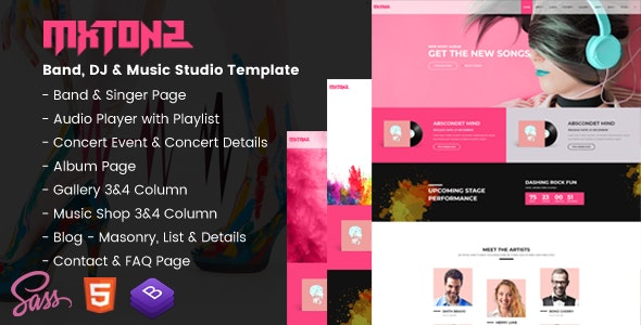 MxTonz-A-Fresh-Band-DJ-Music-Studio-Template-Nulled-Download