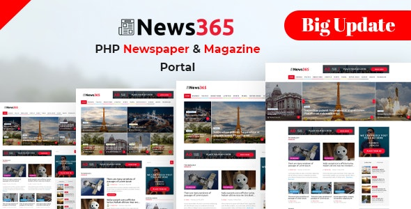 News365-PHP-Newspaper-Script-Magazine-Blog-with-Video-Newspaper-Nulled-Download