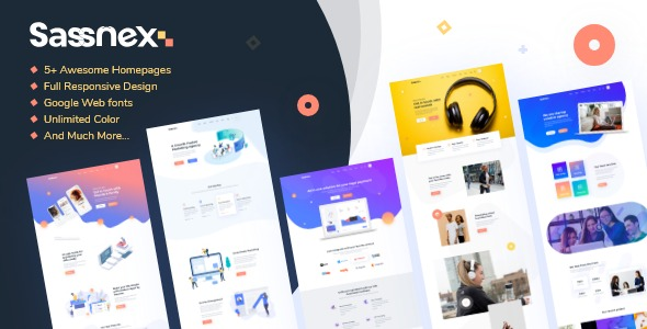 Sassnex-Multi-concept-WordPress-Theme-for-App-Saas-&-Startup-Nulled-Download